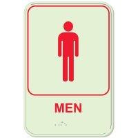 Glow In The Dark Men's Braille Sign