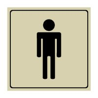 Men's Restroom Symbol - Engraved Graphic Symbol Signs