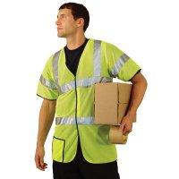 OccuNomix Premium Mesh Dual Stripe ANSI Class 3 Safety Vests