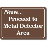 Proceed to Metal Detector Sign