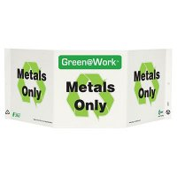 Metals Only Tri View Recycling Sign