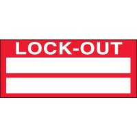 Lock Out Miniature Labels