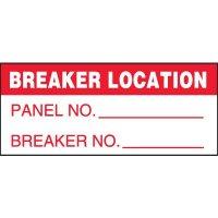 Breaker Location Miniature Labels