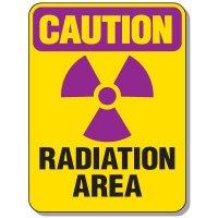 Radiation Signs - Caution Radiation Area