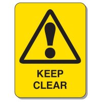 Lock-out & Machine Safety Signs - Keep Clear