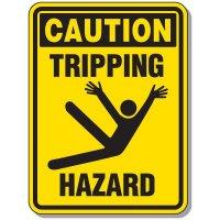 Slipping & Tripping Signs- Caution Tripping Hazard