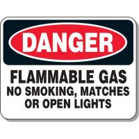 Chemical & Flammable Signs - Danger Flammable Gas No Smoking
