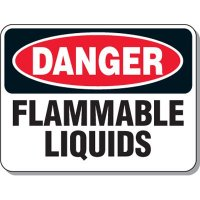 Chemical & Flammable Signs - Danger Flammable Liquids
