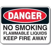 Chemical & Flammable Signs - Danger No Smoking Flammable Liquids