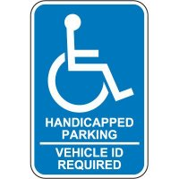 ID Required Handicap Parking Sign