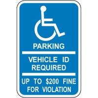 Parking ID Required Fine Sign