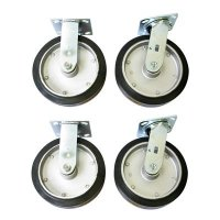 Mold-On-Rubber Platform Casters