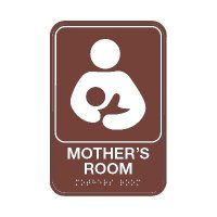 Mother's Room W/ Symbol - Graphic ADA Braille Tactile Signs