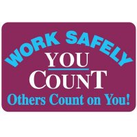 Work Safely Floor Label