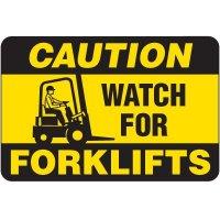 Caution Forklifts Floor Label