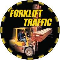 Forklift Traffic Floor Label