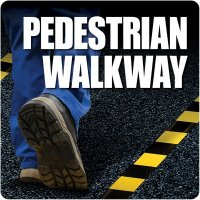 Pedestrian Walkway Floor Label