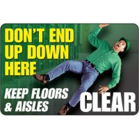 Keep Clear Floor Label