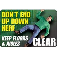 Keep Clear Floor Label