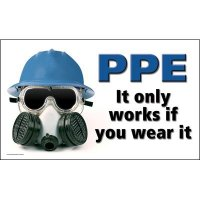 Motivational Banners - PPE It Only Works If You Wear It