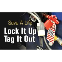 Motivational Banners - Save A Life Lock It Up