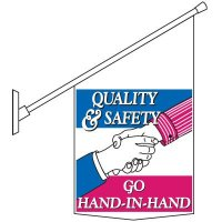 Quality & Safety Pole Banner