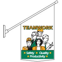 Teamwork Motivational Pole Banner