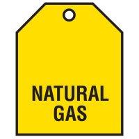 Natural Gas - Vinyl Valve Indicator Tag
