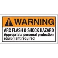 Warning Arc Flash & Hazard Label