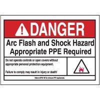 Danger PPE Arc Flash Label