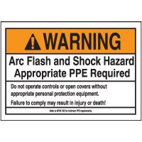 Warning PPE Required Arc Flash Label
