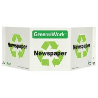 Newspaper Tri View Recycling Sign