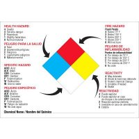 NFPA 704 Bilingual Hazmat Labels