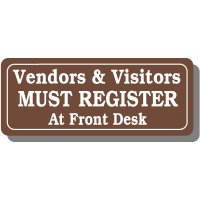 Vendors & Visitors Interior Sign