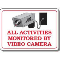 Monitored By Video Camera Interior Sign