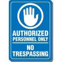 Authorized Personnel Only Interior Sign