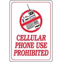 Cellular Phone Use Prohibited Interior Sign