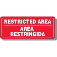 Bi-Lingual Restricted Area Interior Sign