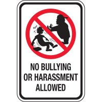 No Bullying Allowed Signs
