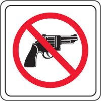 No Fire Arms Sign