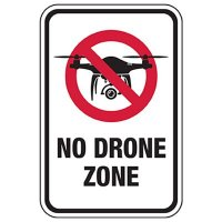 No Drone Zone Sign