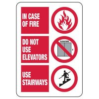 In Case Of A Fire Safety Sign