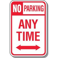 No Parking Any Time with Arrow