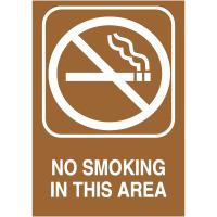 No Smoking In This Area Engraved No Smoking Signs