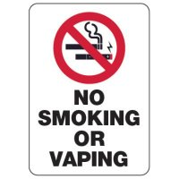 No Smoking or Vaping Sign (w/ Graphic)