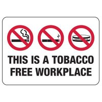 No Smoking Signs - This Is A Tobacco Free Workplace