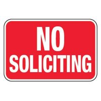 No Soliciting - Property Protection Signs