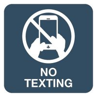 No Texting - Optima Office Policy Signs