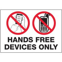 No Texting Security Labels - Hands Free Devices Only