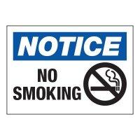 Hazard Warning Labels - Notice No Smoking (With Graphic)